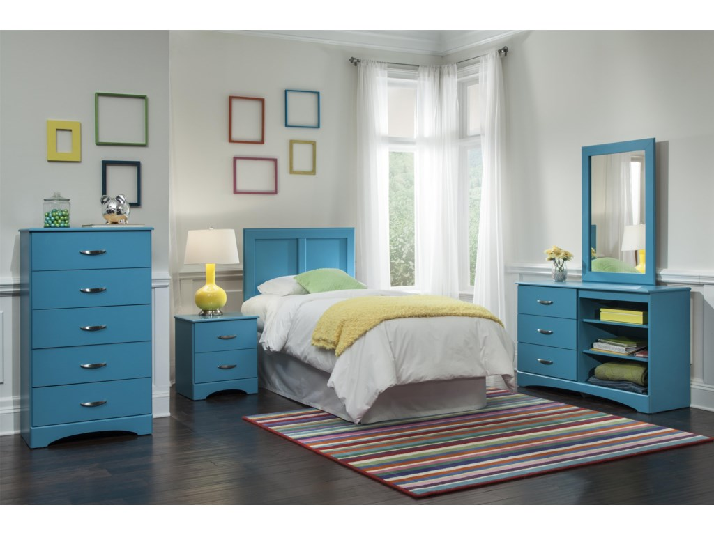 Kith Furniture 173 TurquoiseTwin Bedroom Group