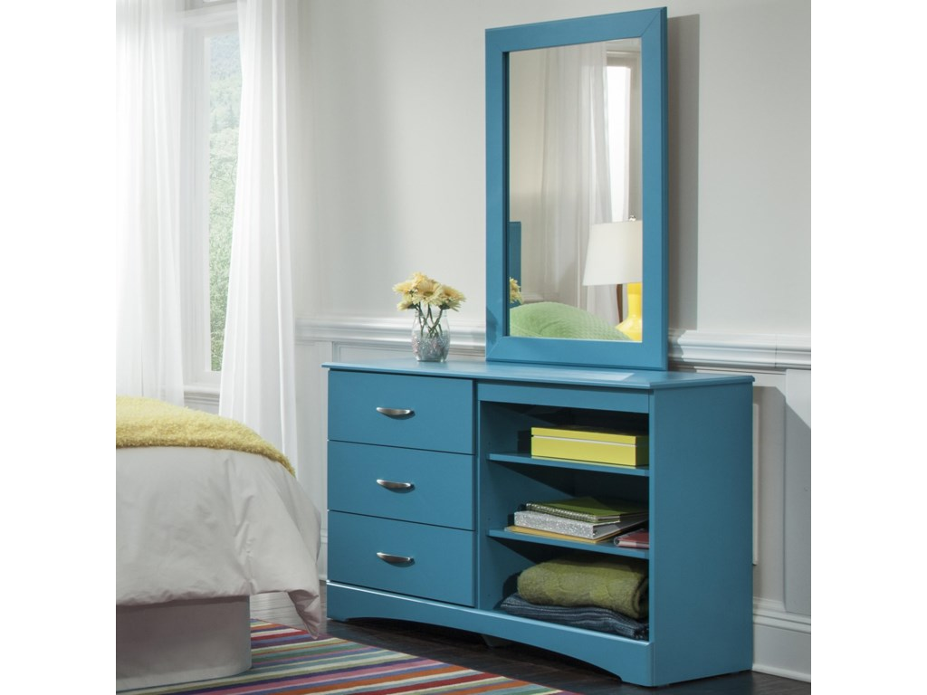 Kith Furniture 173 TurquoiseMirror and Dresser Set