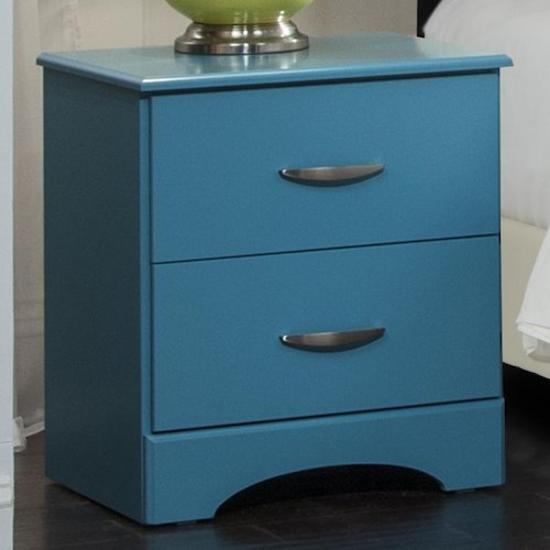 Kith Furniture 173 Turquoise Nightstand with Two Drawers