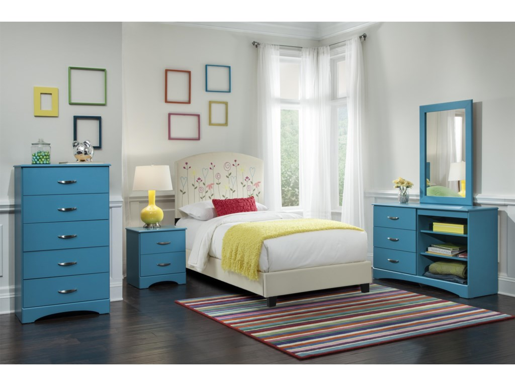 Kith Furniture 173 Turquoise5 Drawer Chest