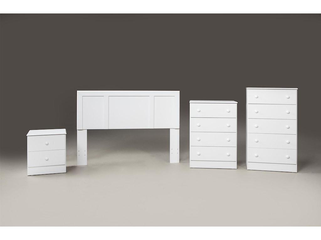 Kith Furniture 193 WhiteTwin Headboard