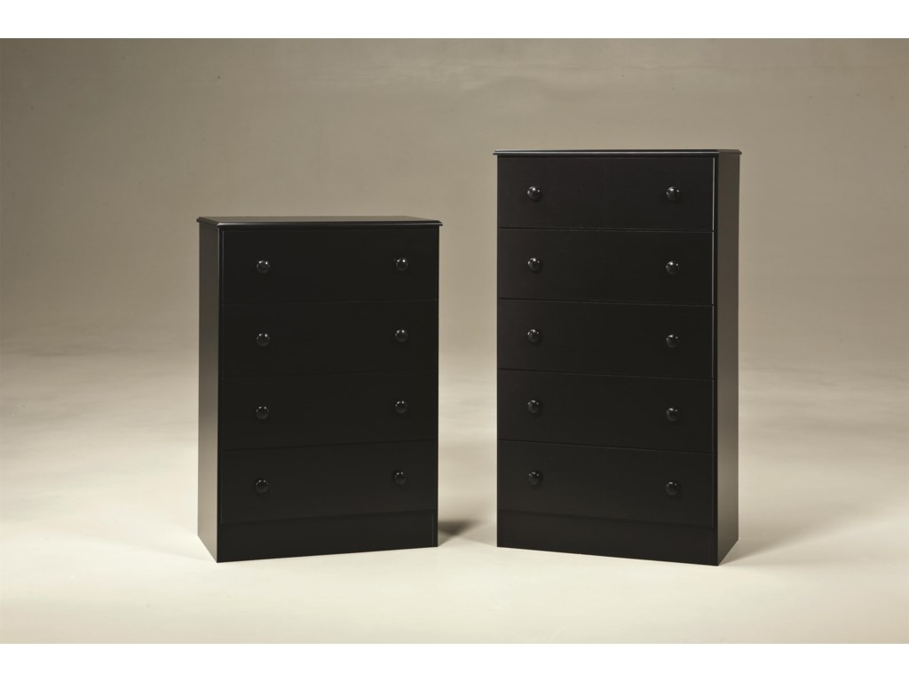Kith Furniture 195 Black4 Drawer Chest