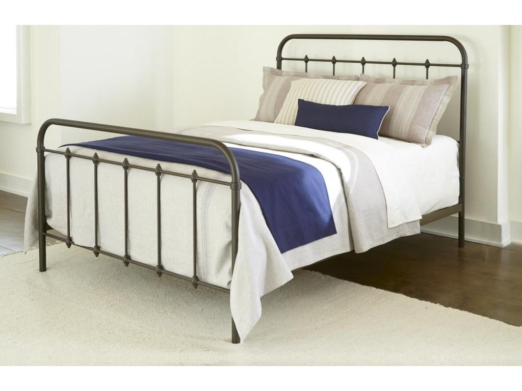 Kith Furniture 232GreyQueen Size Metal Bed