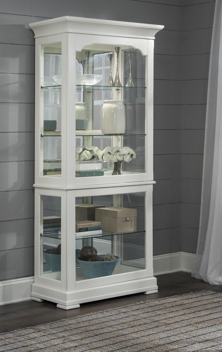 CURIOS Large White Curio Cabinet