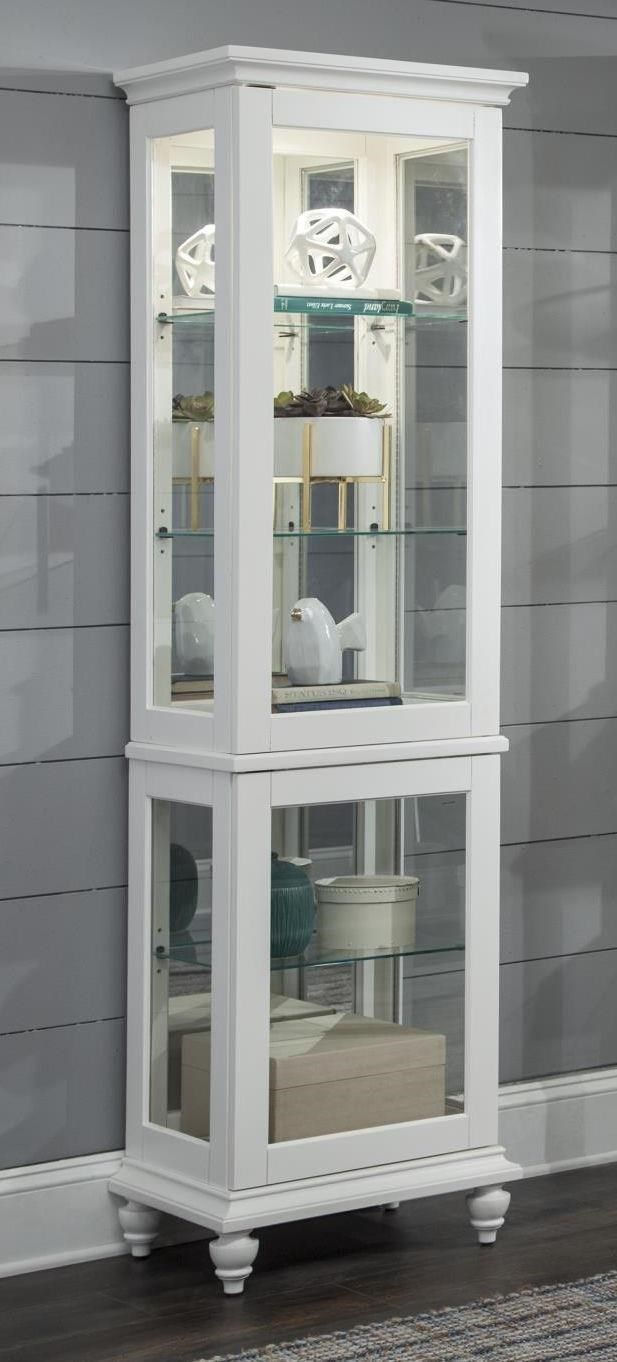 Genial CURIOS Small White Curio Cabinet