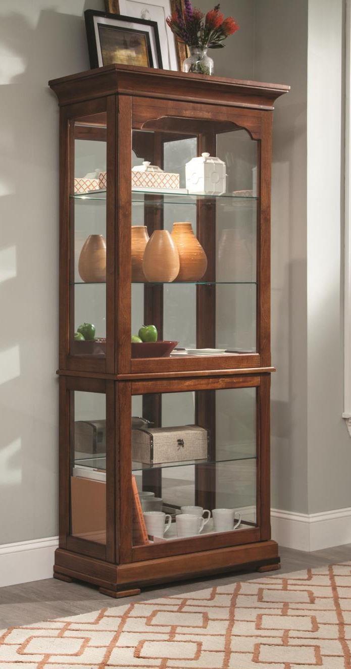 CURIOS Large Oak Curio Cabinet