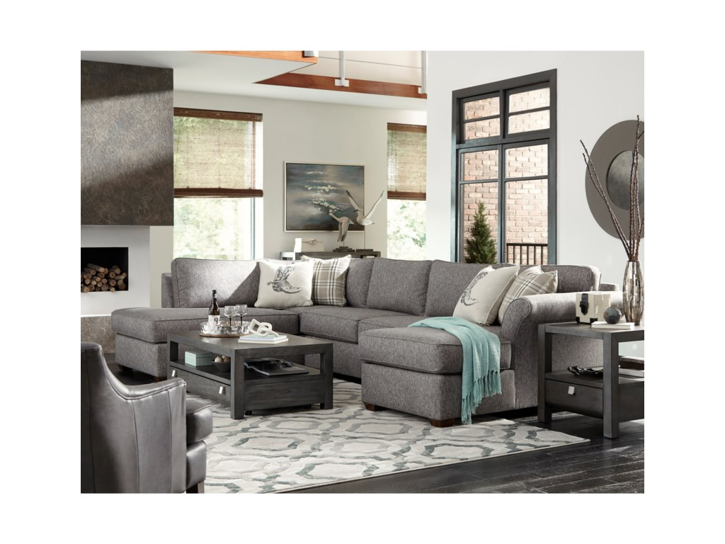 Simple Elegance Jaxon3 Pc Sectional Sofa
