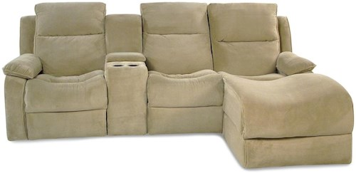 Simple Elegance Castaway 2PC Power Reclining Chaise Sectional