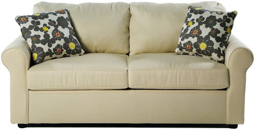 Simple Elegance Sunburst Dreamquest Regular Sleeper Sofa with Rolled Arms