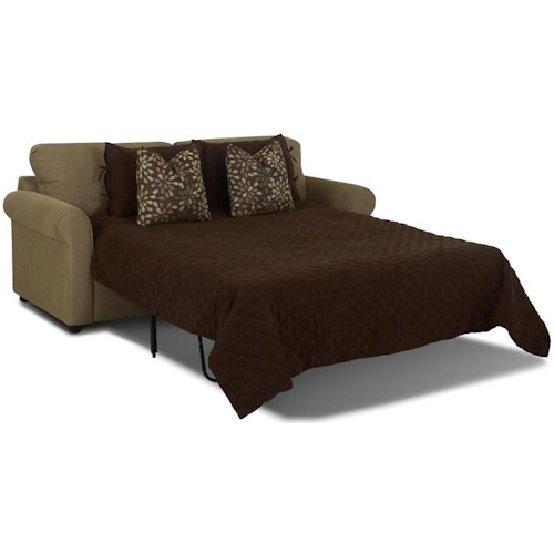 Klaussner Brighton Dreamquest Regular Sleeper Sofa with Rolled Arms