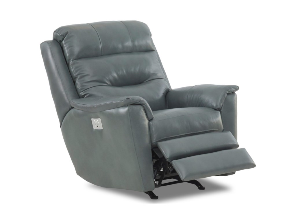 Klaussner NolaPwr Rocking Recliner w/ Pwr Head and Lumbar