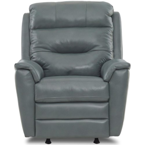 Klaussner Nola Casual Power Rocking Recliner with Power Headrest and USB Port