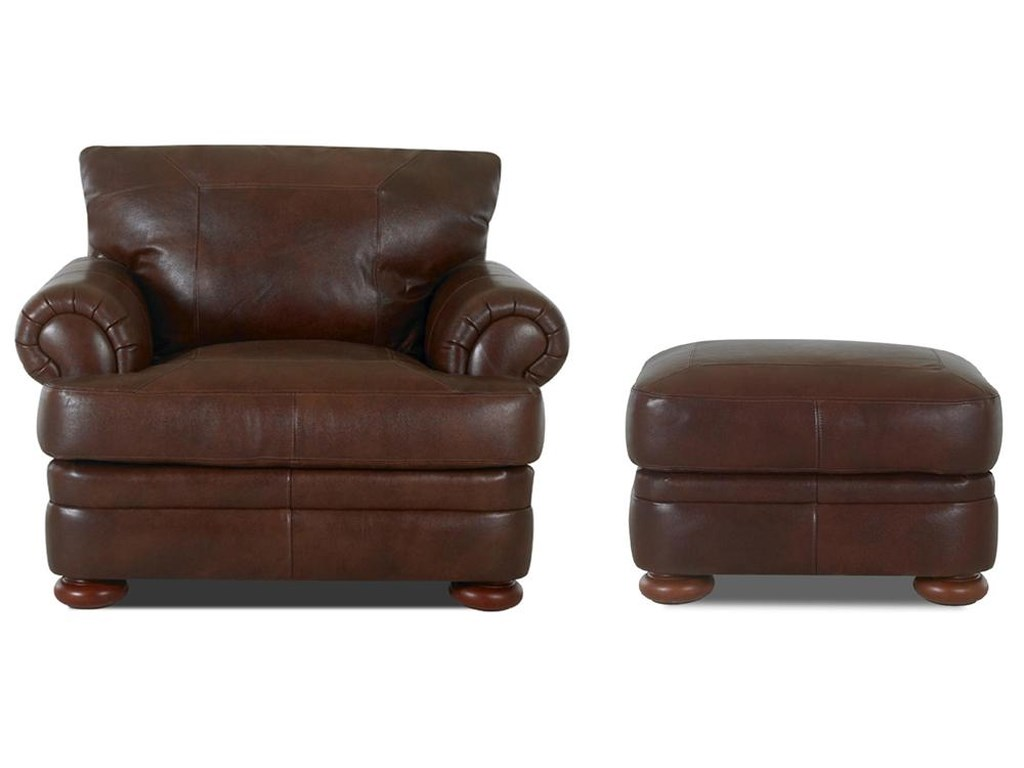 Klaussner MontezumaChair and Ottoman