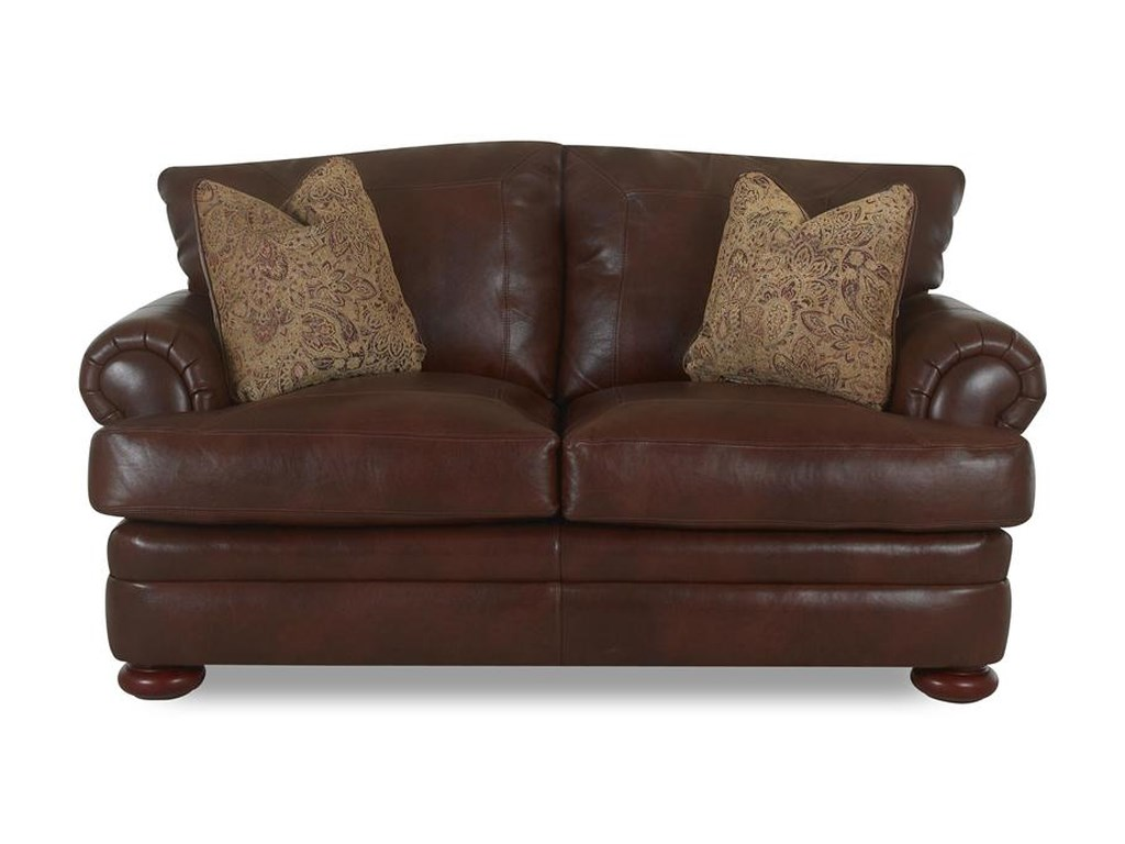 Simple Elegance MontezumaLeather Loveseat