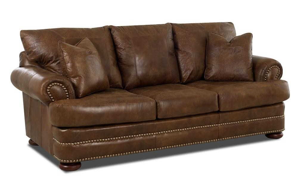 Klaussner MontezumaLeather Studio Sofa