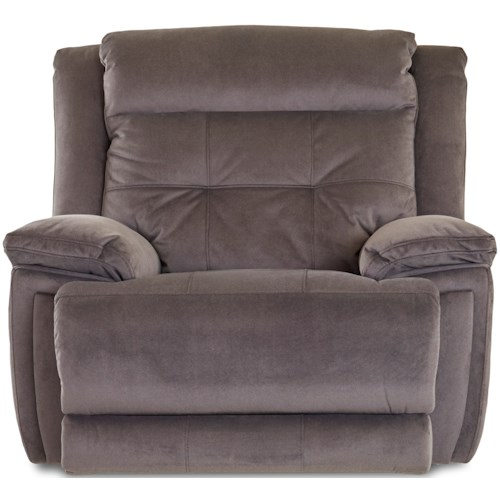 Klaussner McCall Casual Power Recliner with Power Headrest/Lumbar and USB Port