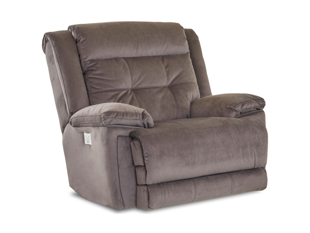 Simple Elegance McCallPower Rocking Recliner with Headrest/Lumbar