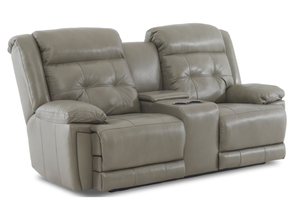 Klaussner McCallPower Reclining Loveseat with Power Headrest