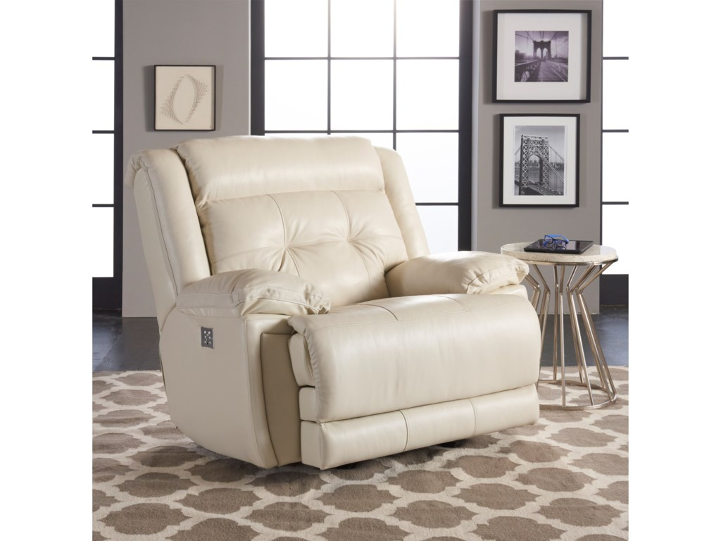 Klaussner McCallPower Rocking Recliner with Power Headrest