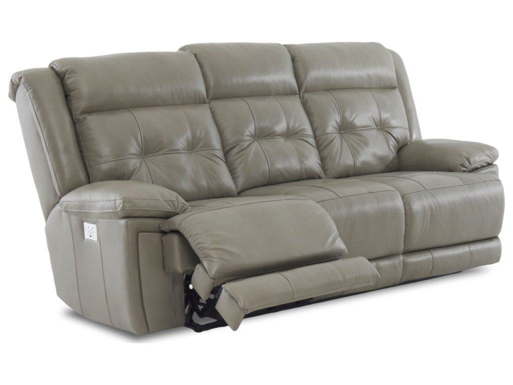 Klaussner McCallPower Reclining Sofa with Headrest/Lumbar