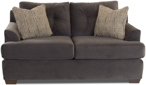 Klaussner Newport Contemporary Loveseat