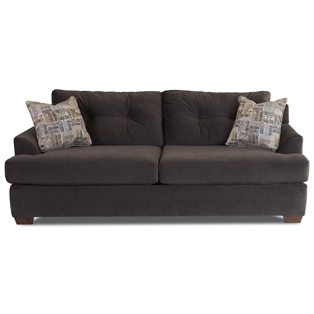 Sofa Contemporary Style klaussner newport contemporary style sofa - novello home