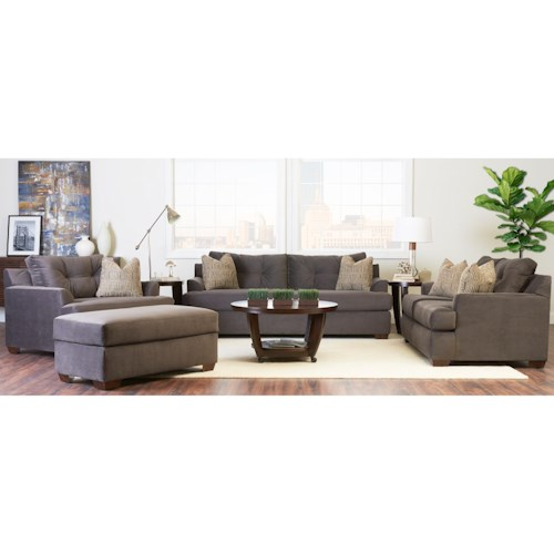 Klaussner Newport Contemporary Living Room Group