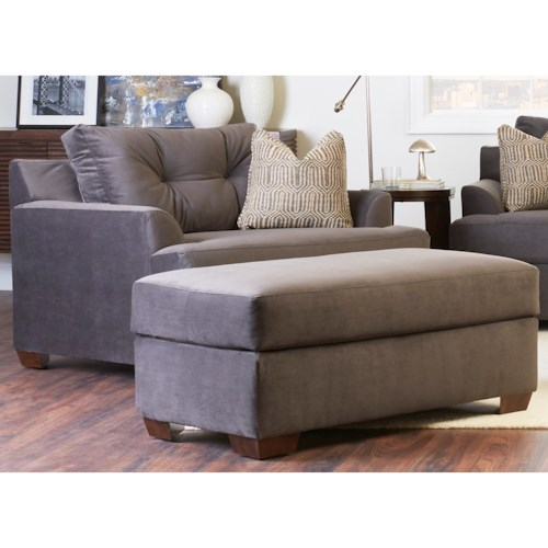 Klaussner Newport Contemporary Chair & Ottoman