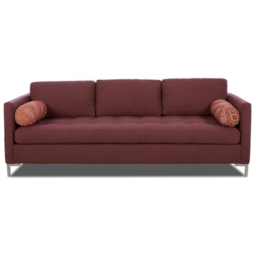 Klaussner Uptown Klaussner Tufted Seat Contemporary Sofa