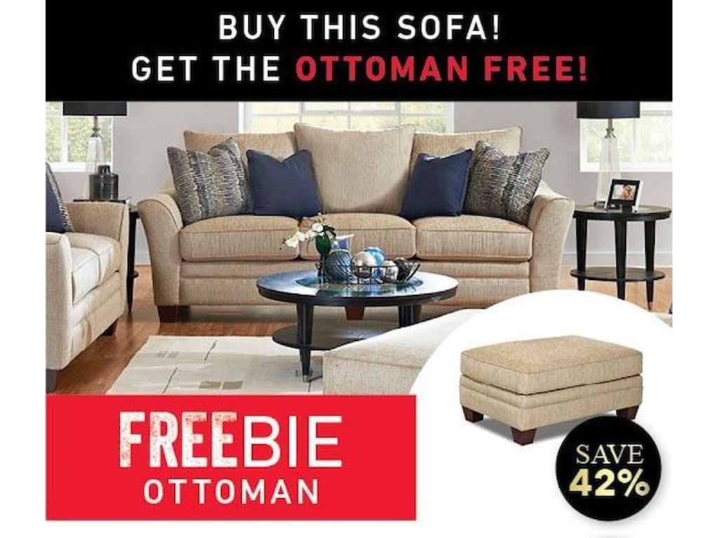 Elliston Place FelicityFelicity Sofa with Freebie Ottoman