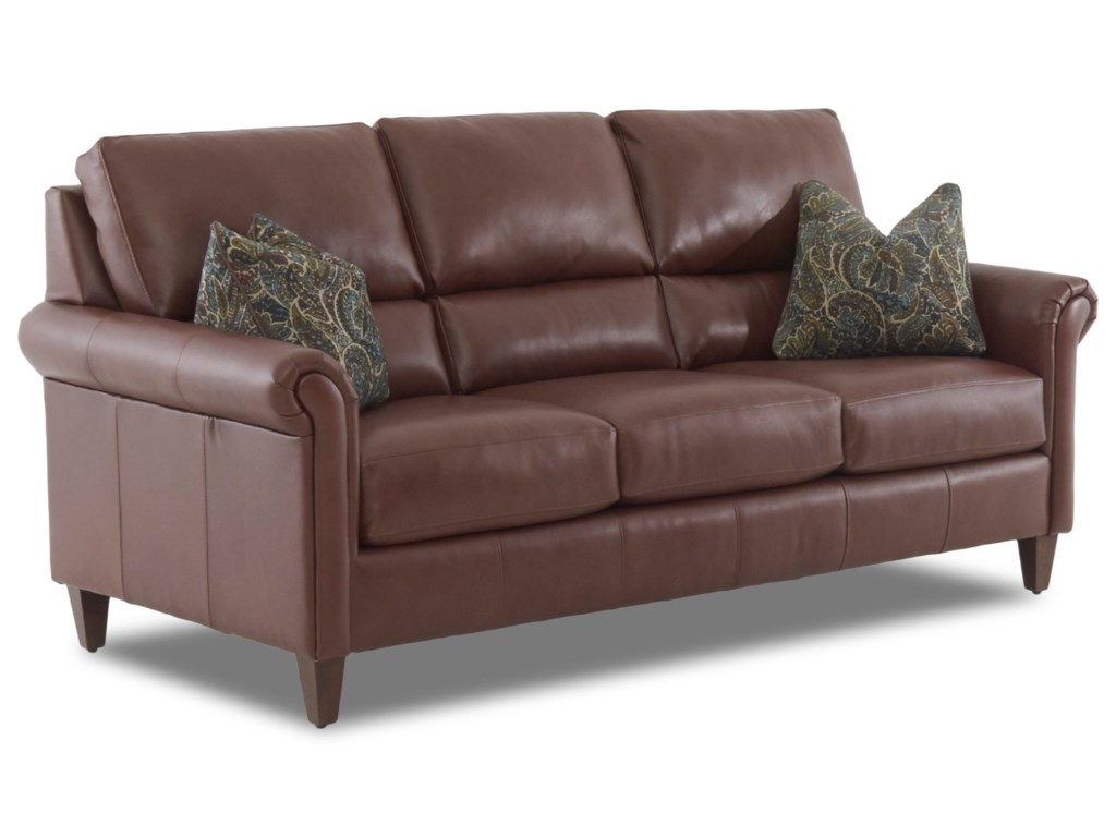 Klaussner AdelineSofa w/ Arm Pillows