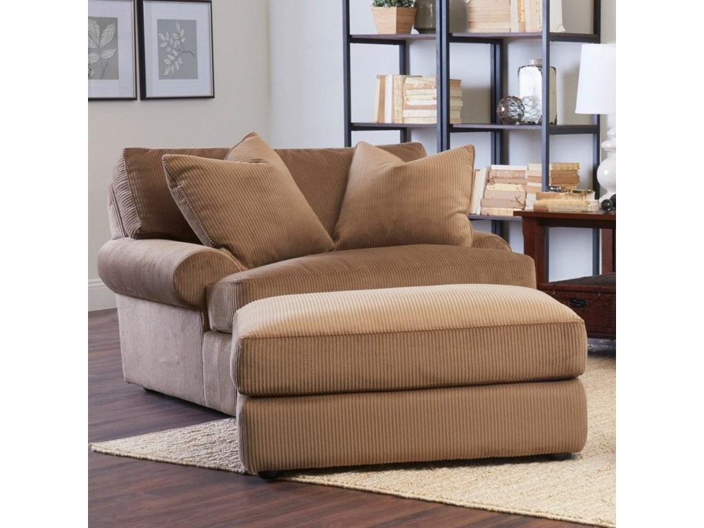 Klaussner AdelynOversized Chair & Ottoman