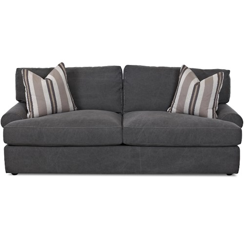 Klaussner Adelyn Contemporary Sofa with Rolled Arms