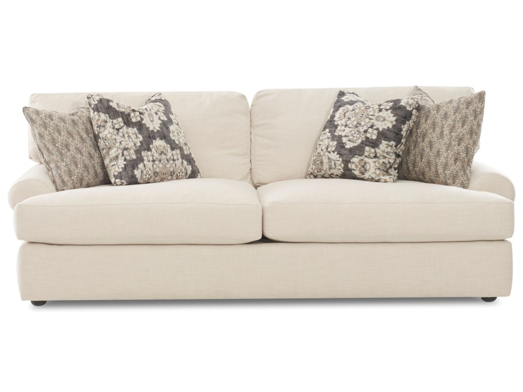 Klaussner AdelynSofa w/ 4 Pillows
