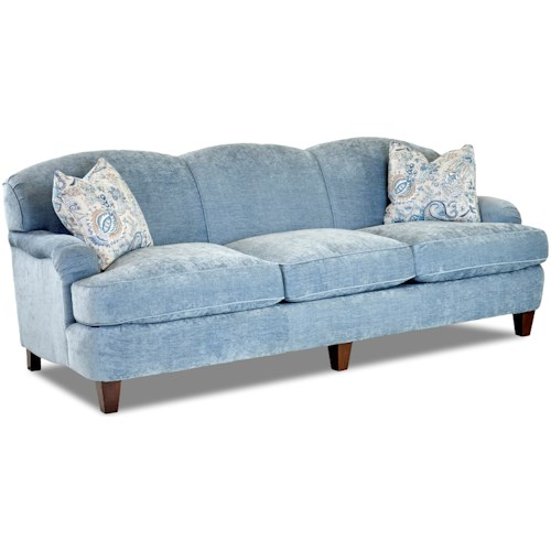 Klaussner Albion Traditional Sofa with Nail Head Trim
