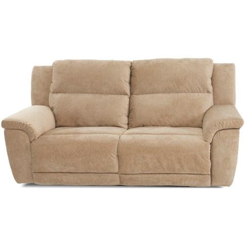 Klaussner Albus Power Two Seat Reclining Sofa with Power Headrests and USB Ports