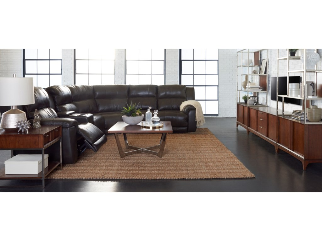 Klaussner Albus3 Pc Power Reclining Sectional Sofa