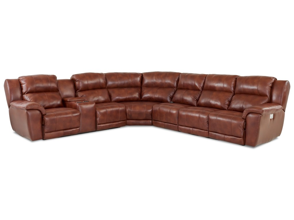 Elliston Place Albus4 Pc Power Reclining Sectional Sofa