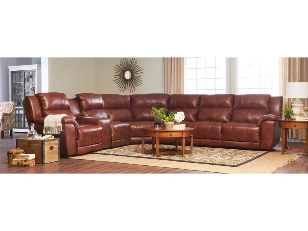 Klaussner Albus4 Pc Power Reclining Sectional Sofa
