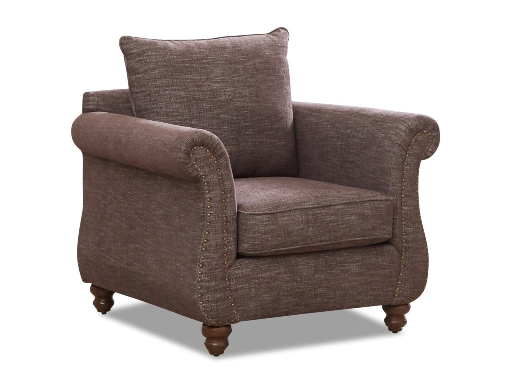 Klaussner AldrichChair with Nailhead Trim