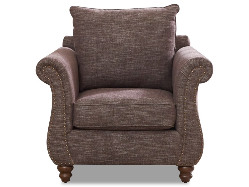 Klaussner AldrichChair with Nailhead Trim & Kool Gel Cushion