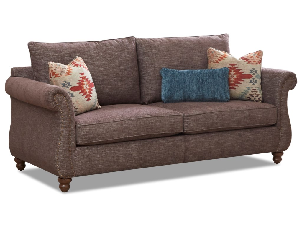 Klaussner AldrichSofa with Nailhead Trim & Kool Gel Cushions