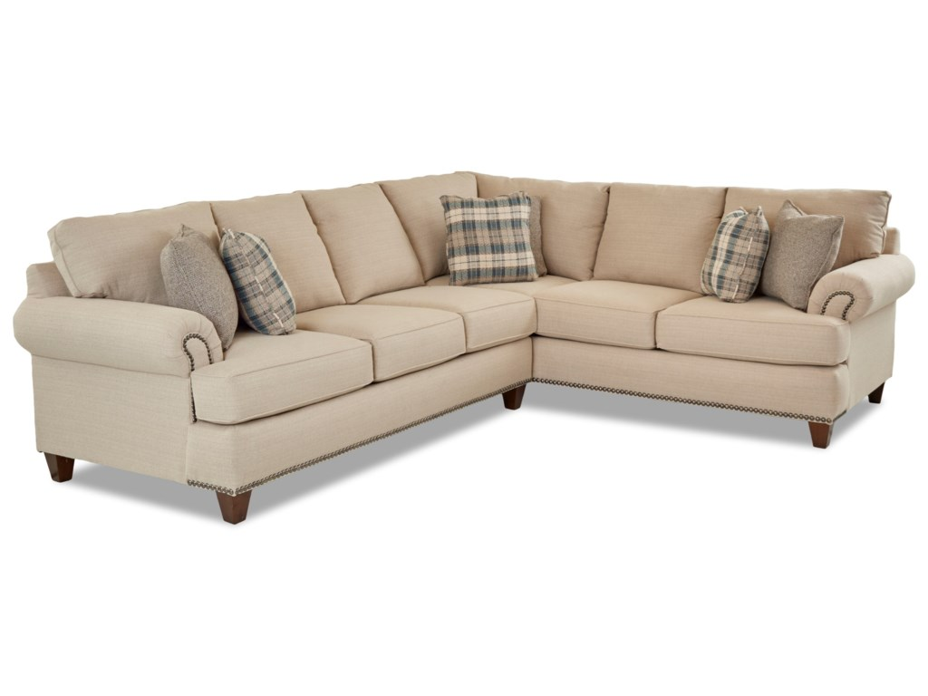 Klaussner Alexa2 Pc Sectional Sofa w/ LAF Sofa