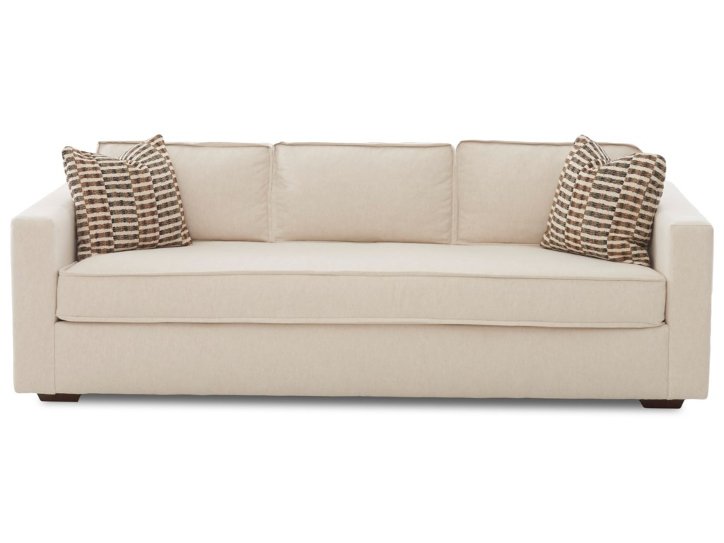 Klaussner Allen Contemporary Sofa With Low Profile Back Value City