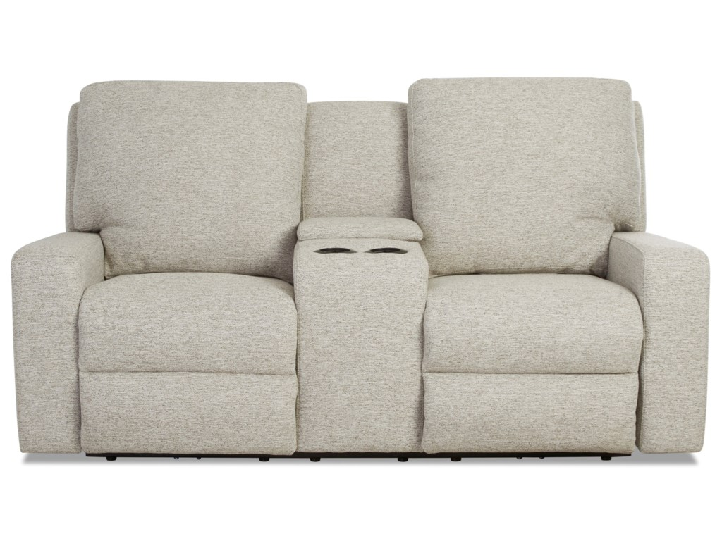 Klaussner AlliserPower Reclining Loveseat w/ Console