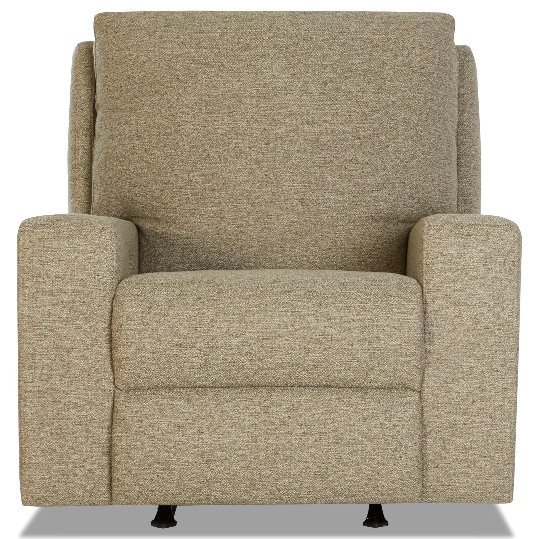 Contemporary Power Rocking Reclining Chair w/ Power Headrest & Power Lumbar