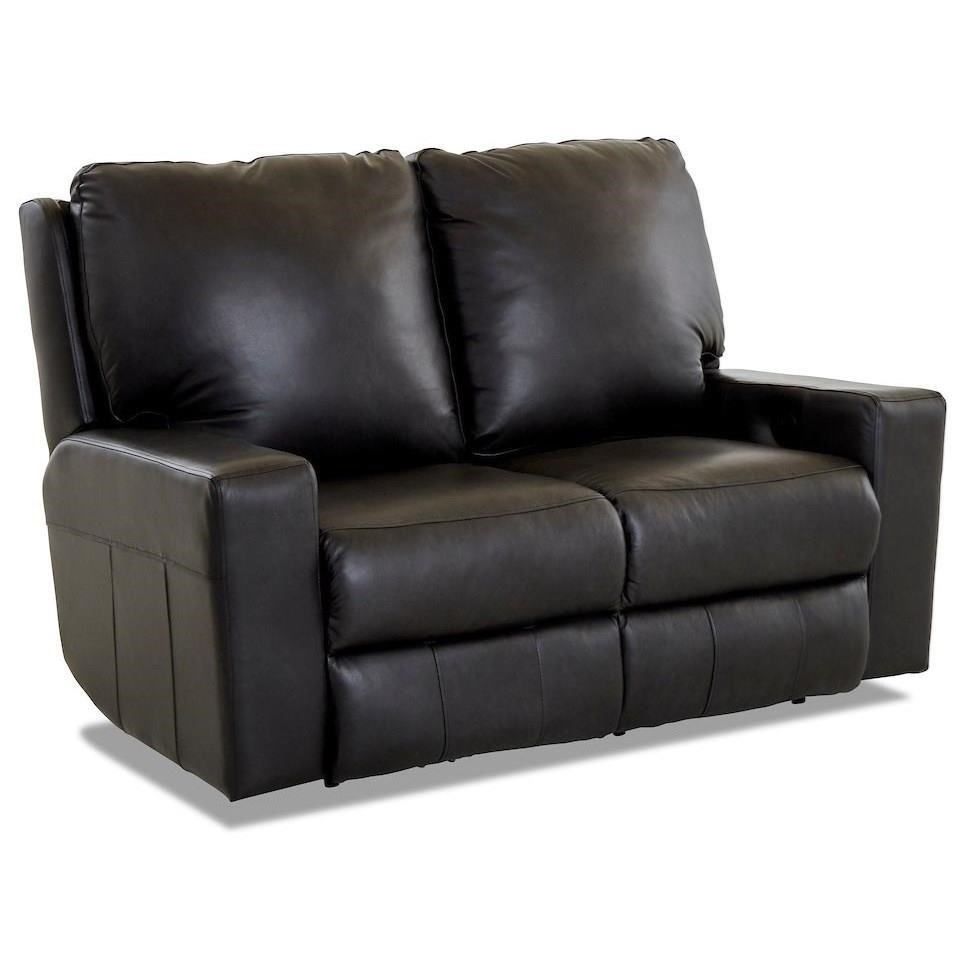 Contemporary Power Reclining Loveseat