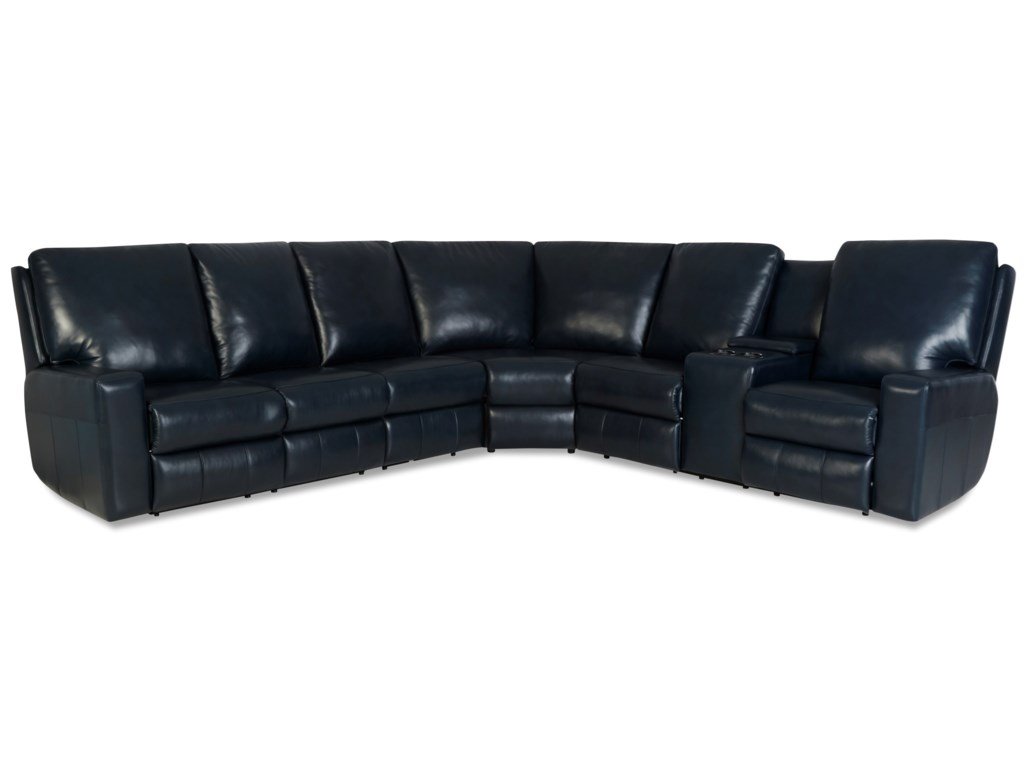 Klaussner AlliserPower Reclining Sectional w/ Pwr Headrests