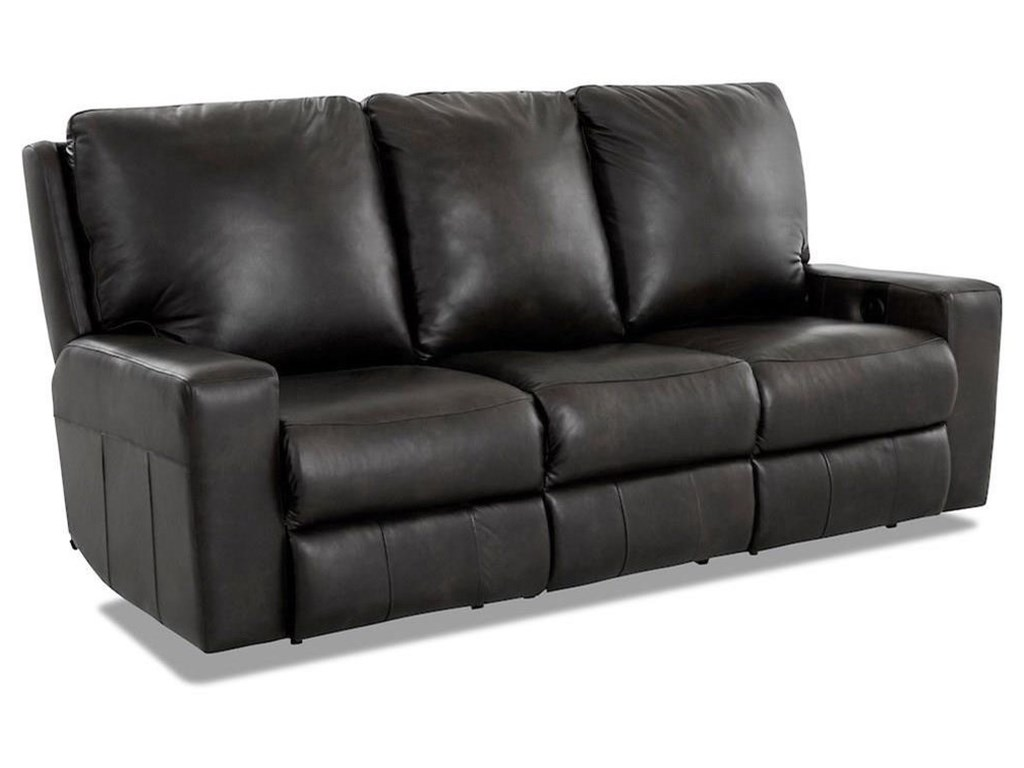 Klaussner AlliserPower Reclining Sofa w/ Pwr Headrests & XMS