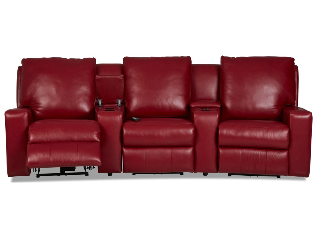 Klaussner Alliser3-Seat Theater Seating Group